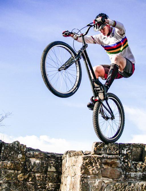 Weltmeister Oliver Widmann. Inzwischen fährt Oliver seit 9 Jahren Fahrrad-Trial beim MSC Marburg.