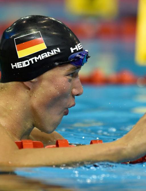 Jacob Heidtmann im Becken. Jacob ist vom Schwimm-Team Stadtwerke Elmshorn (Hamburg).