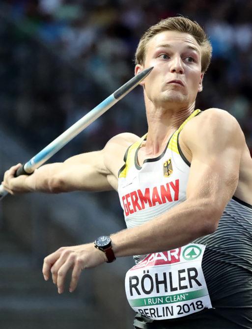Olympiasieger und Europameister Thomas Röhler beim Speerwurf. Mit seinen Weiten gehört der Jenaer zu den besten Speerwerfern aller Zeiten.
