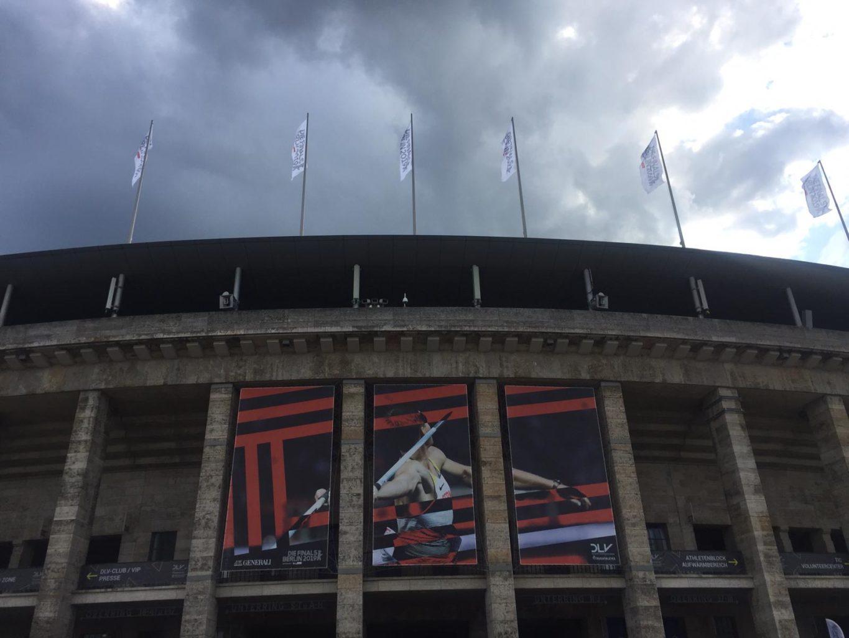 Olympiastadion Berlin mit Finals 2019 Bannern